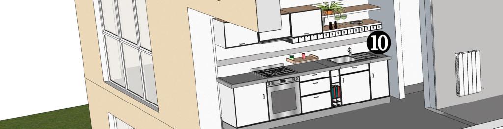 Fragmento instalación residencial, punto 10