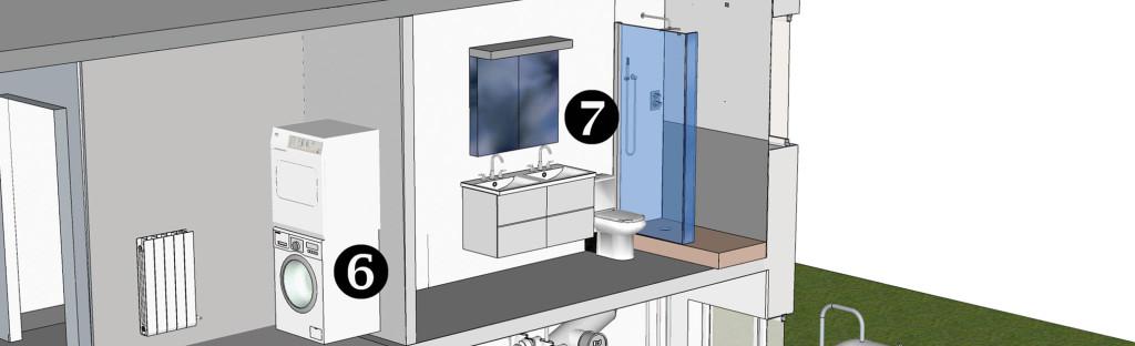 Fragmento instalación residencial, puntos 6 y 7