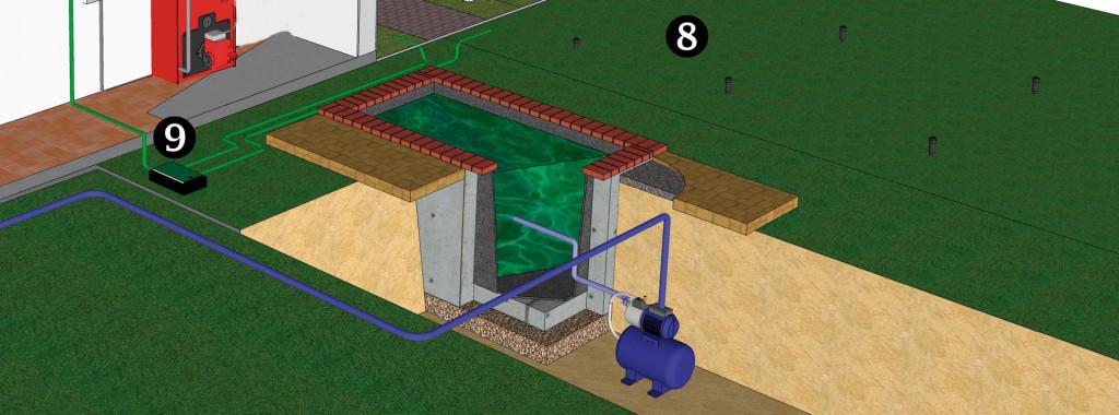 Fragmento instalación residencial, puntos 8 y 9