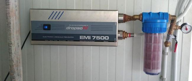 Instalación antical para condensador evaporativo